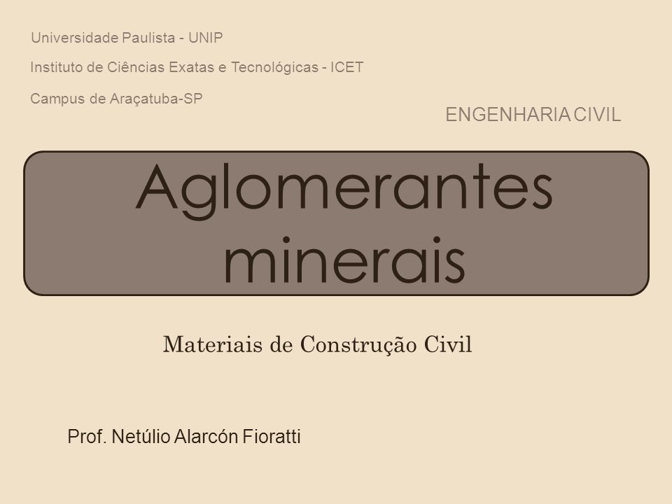 Aglomerantes minerais Prof.