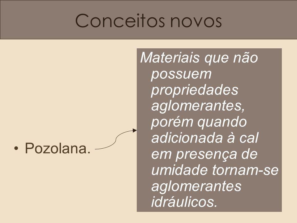 Conceitos novos •Pozolana.