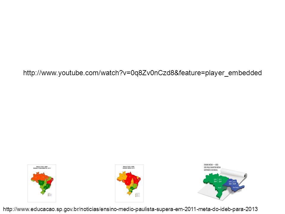 http://www.educacao.sp.gov.br/noticias/ensino-medio-paulista-supera-em-2011-meta-do-ideb-para-2013 http://www.youtube.com/watch?v=0q8Zv0nCzd8&feature=