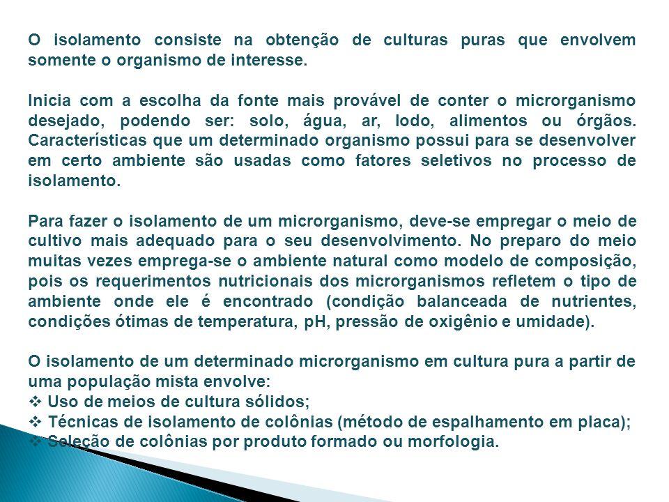 Coleções de Culturas Objetivo: preservação e manutenção das culturas de forma a manter sua sobrevivência, estabilidade e pureza durante períodos prolongados de tempo, conservando as características genéticas e propriedades morfológicas/fisiológicas.