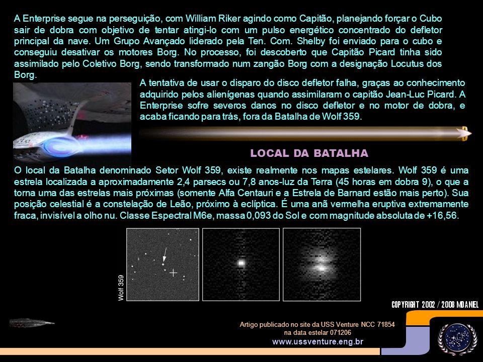 Artigo publicado no site da USS Venture NCC 71854 na data estelar 071206 www.ussventure.eng.br O Almirante Hanson retornou a Base Estelar 324 para discutir estratégia com o Comando da Frota Estelar.