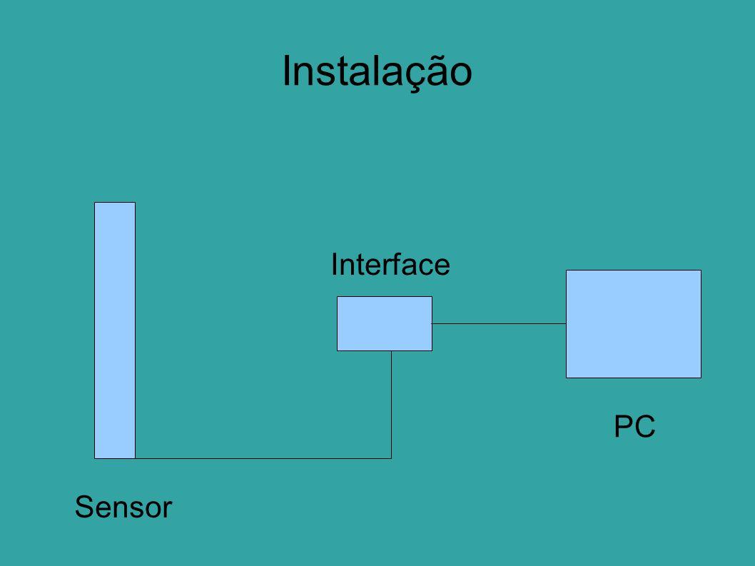 Instalação PC Interface Sensor