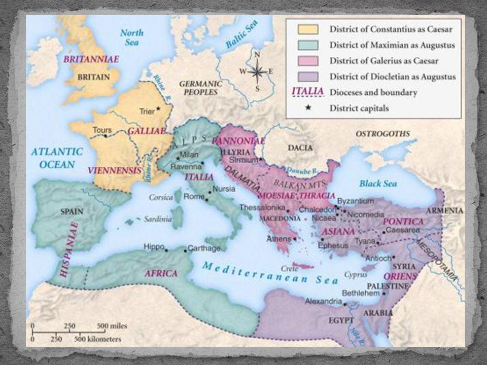 • Teodósio (379 - 395) • Edito de Tessalônica (395) – Oficializou o cristianismo em Roma • Divisão do Império – Império Romano do Ocidente - Roma.