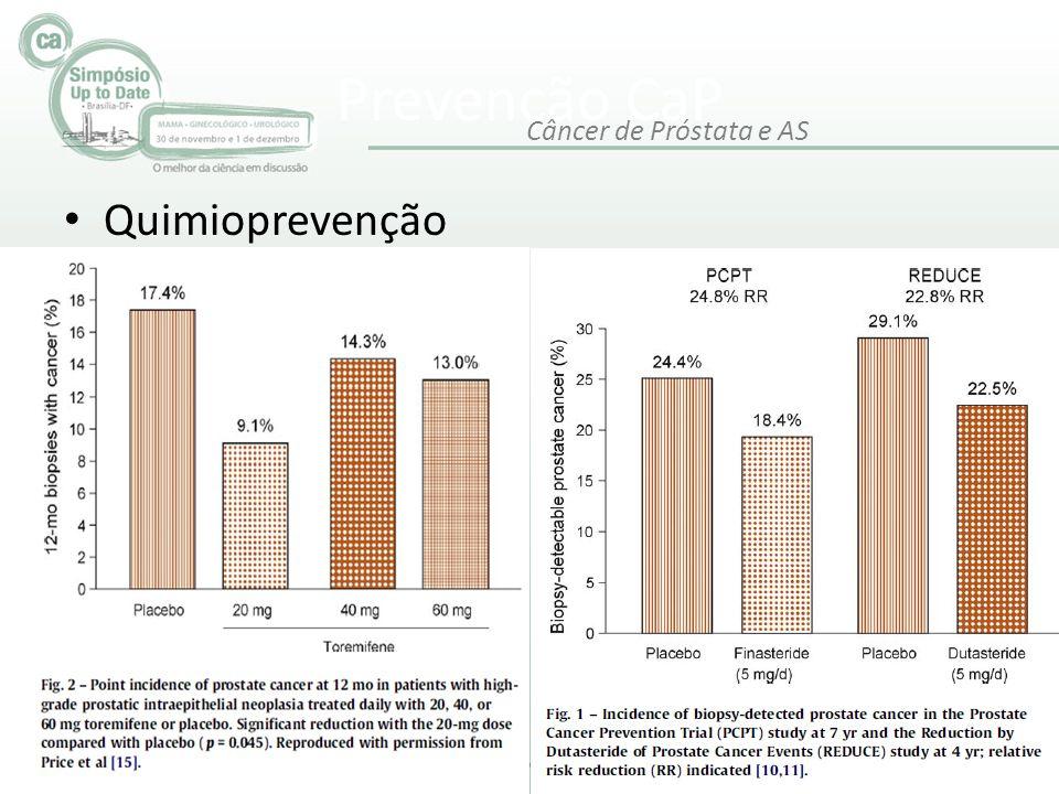 Prevenção CaP • Quimioprevenção Câncer de Próstata e AS