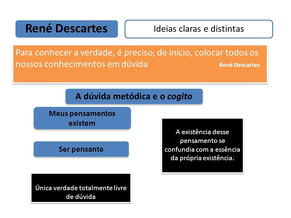 René Descartes Ideias claras e distintas Um dos pais da filosofia moderna A dúvida metódica e o cogito Para conhecer a verdade, é preciso, de início,
