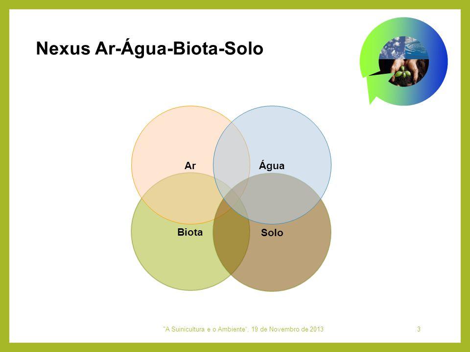 Nexus Ar-Água-Biota-Solo Biota Ar Solo Água