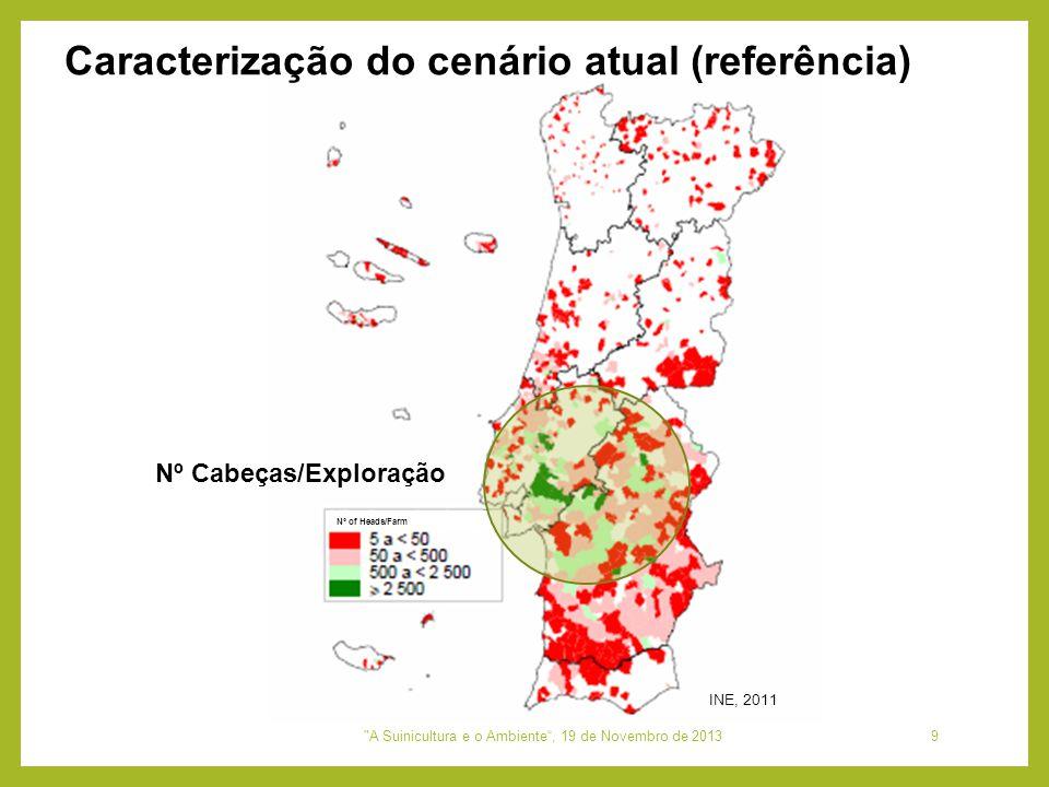 Nº of Heads/Farm Nº Cabeças/Exploração INE, 2011