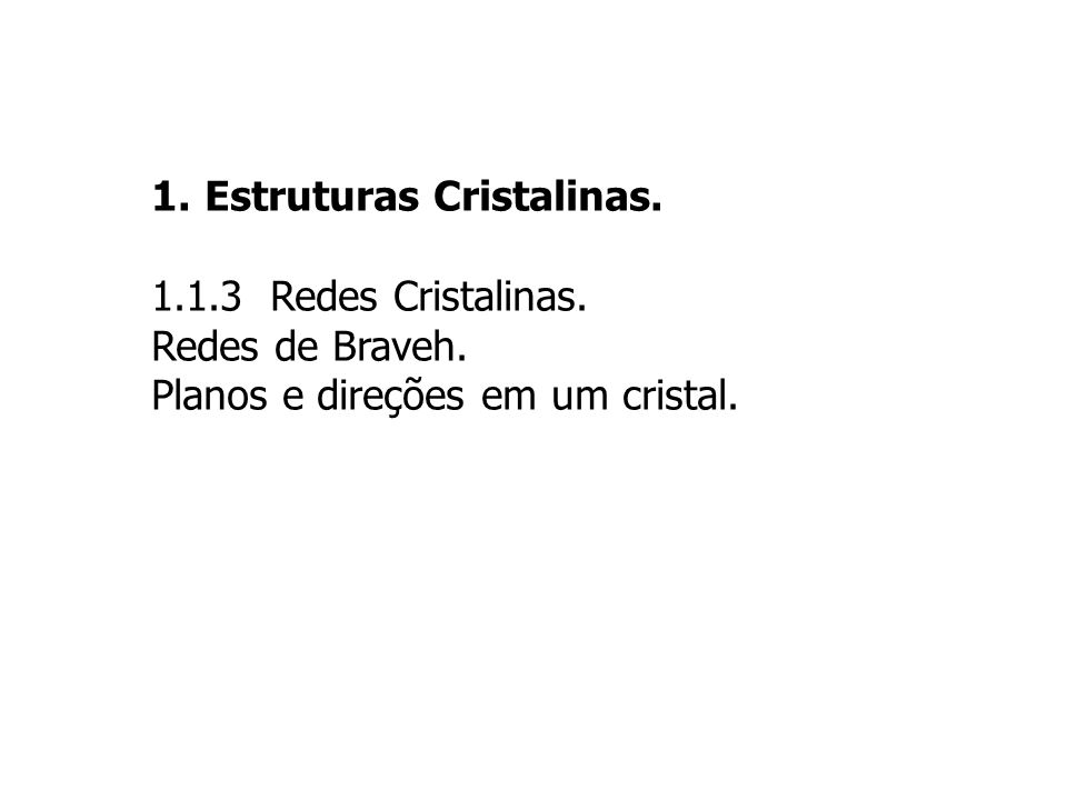33 PLANOS CRISTALINOS