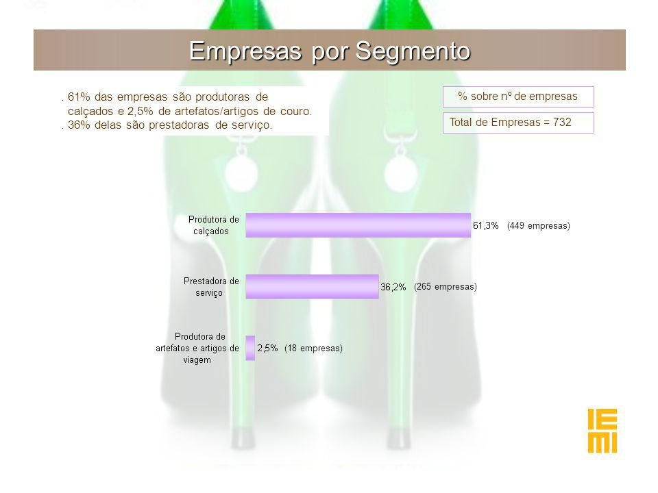 Empresas por Segmento.