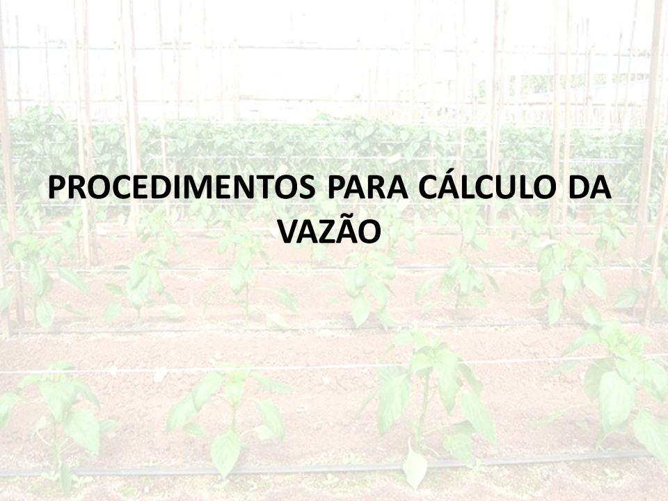 PROCEDIMENTOS PARA CÁLCULO DA VAZÃO