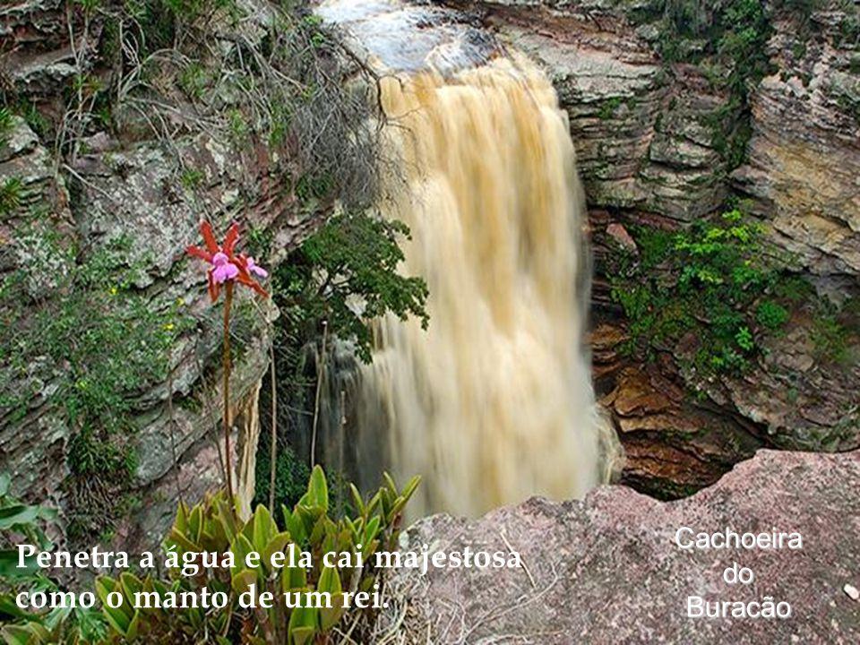 CachoeiradoBuracão Penetra a água e ela cai majestosa como o manto de um rei.