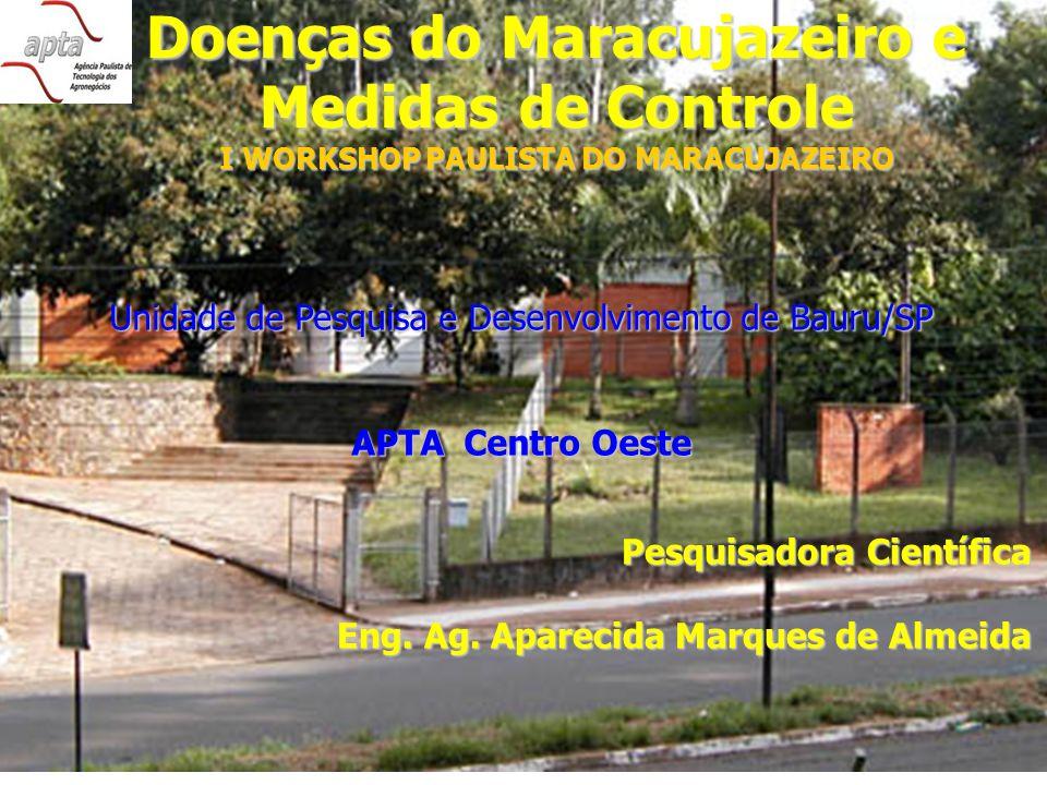 Doenças do Maracujazeiro e Medidas de Controle I WORKSHOP PAULISTA DO MARACUJAZEIRO Pesquisadora Científica Eng.