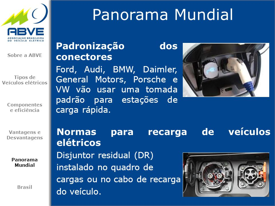Padronização dos conectores Ford, Audi, BMW, Daimler, General Motors, Porsche e VW vão usar uma tomada padrão para estações de carga rápida. Panorama
