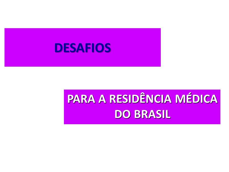DESAFIOS PARA A RESIDÊNCIA MÉDICA DO BRASIL