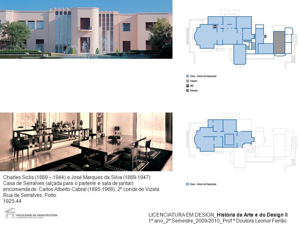 LICENCIATURA EM DESIGN_História da Arte e do Design II 1º ano_2º Semestre_2009/2010_Prof.ª Doutora Leonor Ferrão Charles Siclis (1889 – 1944) e José M
