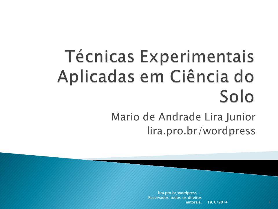 Mario de Andrade Lira Junior lira.pro.br/wordpress 19/6/2014 lira.pro.br/wordpress - Reservados todos os direitos autorais.1