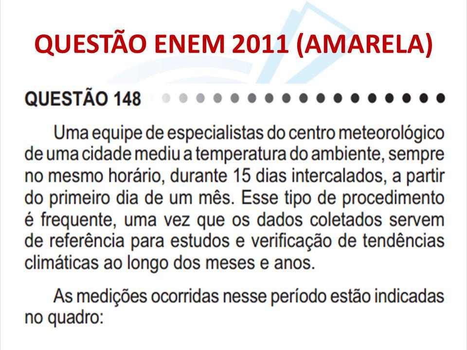 QUESTÃO ENEM 2011 (AMARELA)
