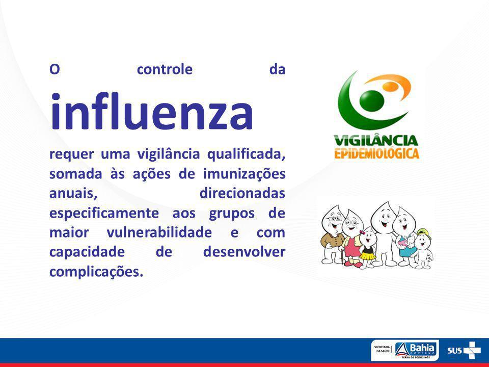 O controle da influenza requer uma vigilância qualificada, somada às ações de imunizações anuais, direcionadas especificamente aos grupos de maior vul