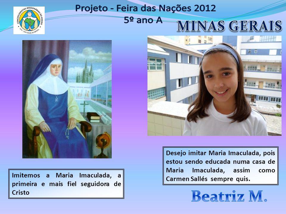 Imitemos a Maria Imaculada, a primeira e mais fiel seguidora de Cristo Desejo imitar Maria Imaculada, pois estou sendo educada numa casa de Maria Imac