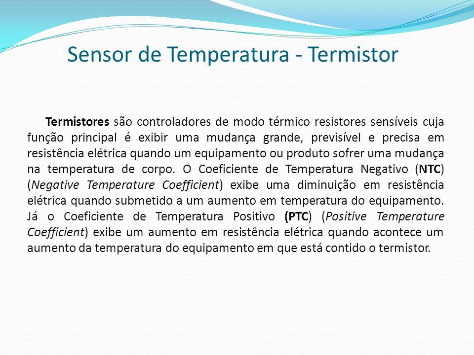 Sensor de Temperatura - Termistor Termistores são controladores de modo térmico resistores sensíveis cuja função principal é exibir uma mudança grande