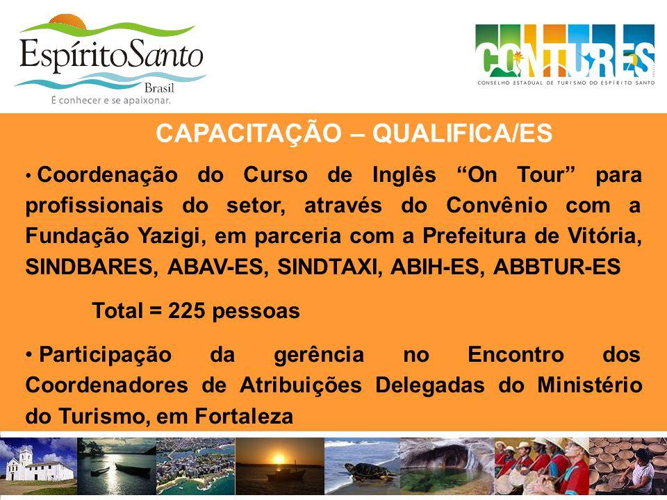 """• Coordenação do Curso de Inglês """"On Tour"""" para profissionais do setor, através do Convênio com a Fundação Yazigi, em parceria com a Prefeitura de Vit"""