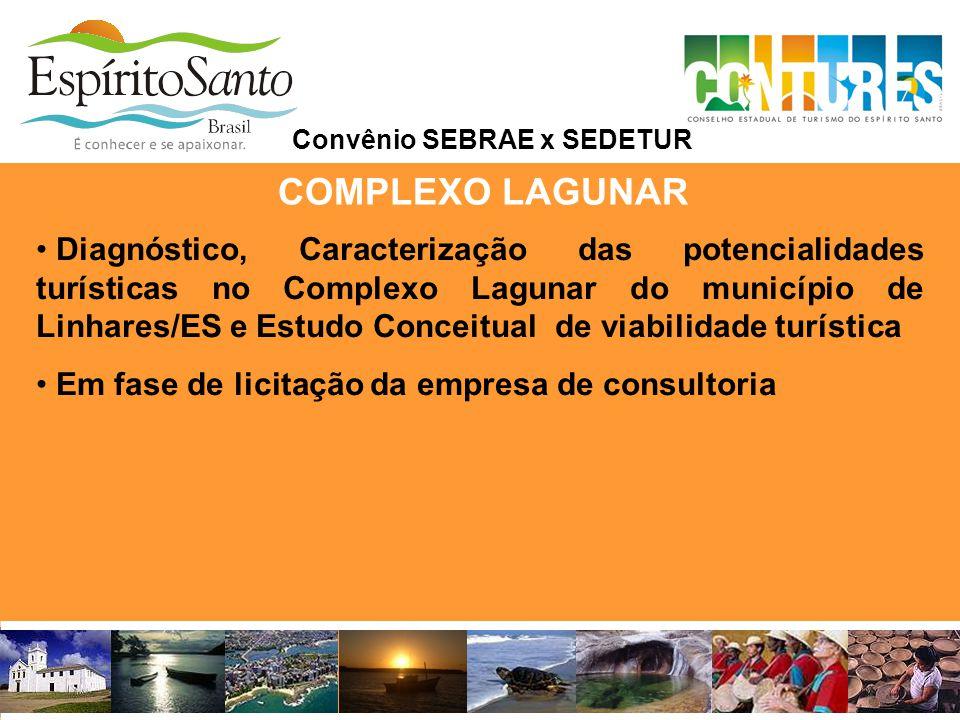 COMPLEXO LAGUNAR • Diagnóstico, Caracterização das potencialidades turísticas no Complexo Lagunar do município de Linhares/ES e Estudo Conceitual de v