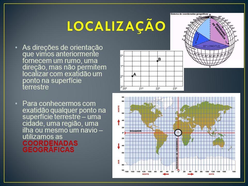 •Baseiam-se em linhas imaginárias traçadas sobre o globo terrestre, chamadas de PARALELOS e MERIDIANOS AS COORDENADAS GEOGRÁFICAS – determinam a localização exata de qualquer ponto da superfície terrestre.