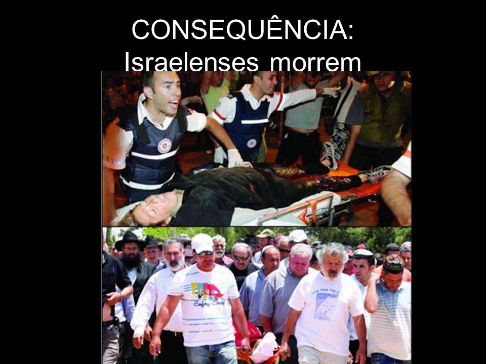 CONSEQUÊNCIA: Israelenses morrem