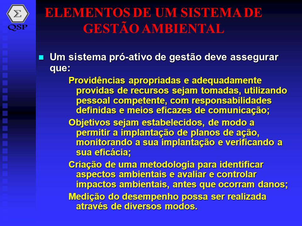  Um sistema pró-ativo de gestão deve assegurar que: Providências apropriadas e adequadamente providas de recursos sejam tomadas, utilizando pessoal c