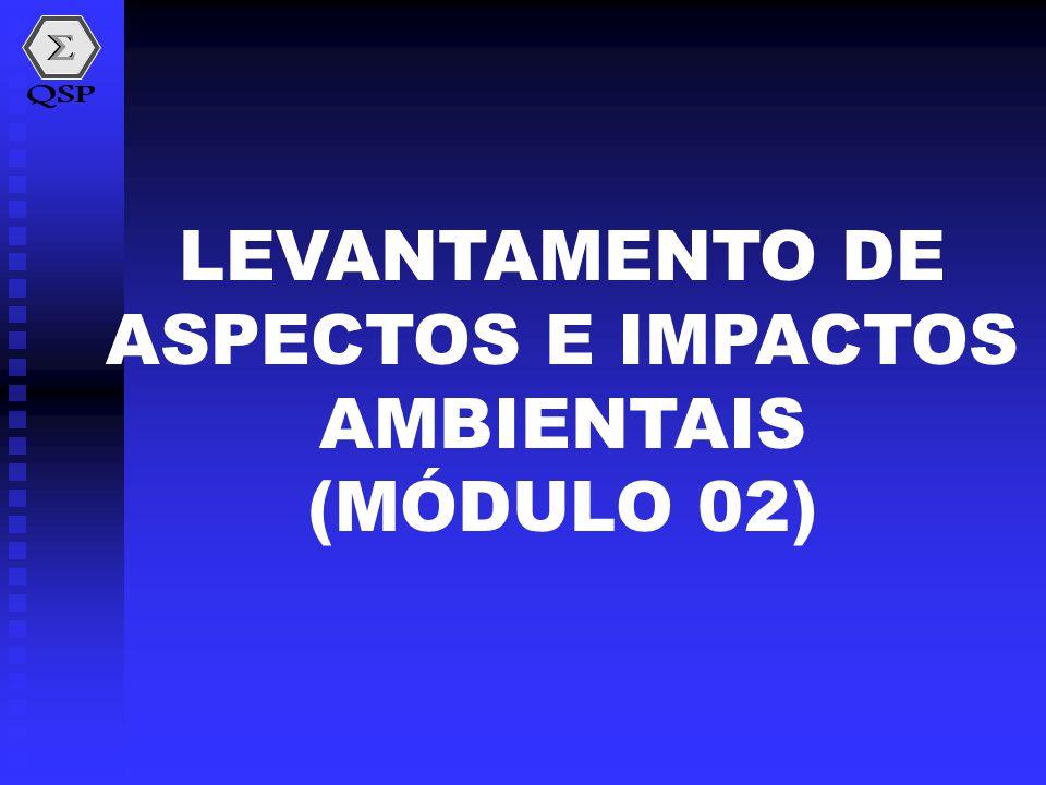 LEVANTAMENTO DE ASPECTOS E IMPACTOS AMBIENTAIS (MÓDULO 02)
