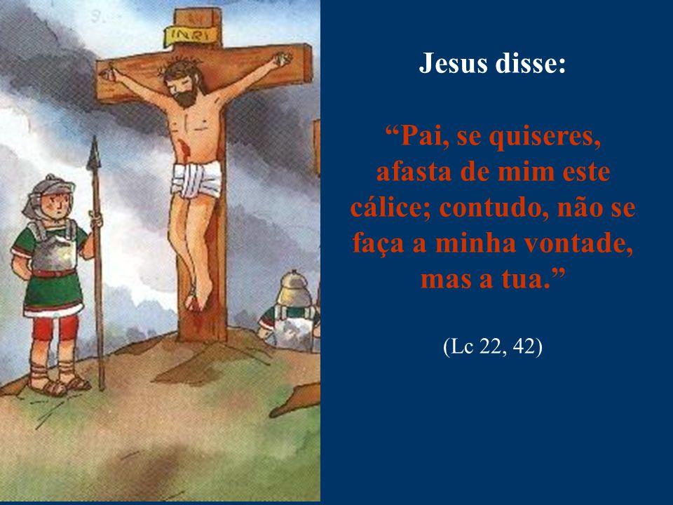 """Jesus disse: """"Pai, se quiseres, afasta de mim este cálice; contudo, não se faça a minha vontade, mas a tua."""" (Lc 22, 42)"""