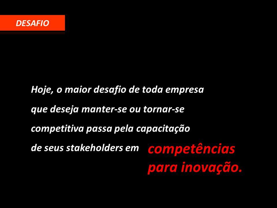 Hoje, o maior desafio de toda empresa que deseja manter-se ou tornar-se competitiva passa pela capacitação de seus stakeholders em competências para i