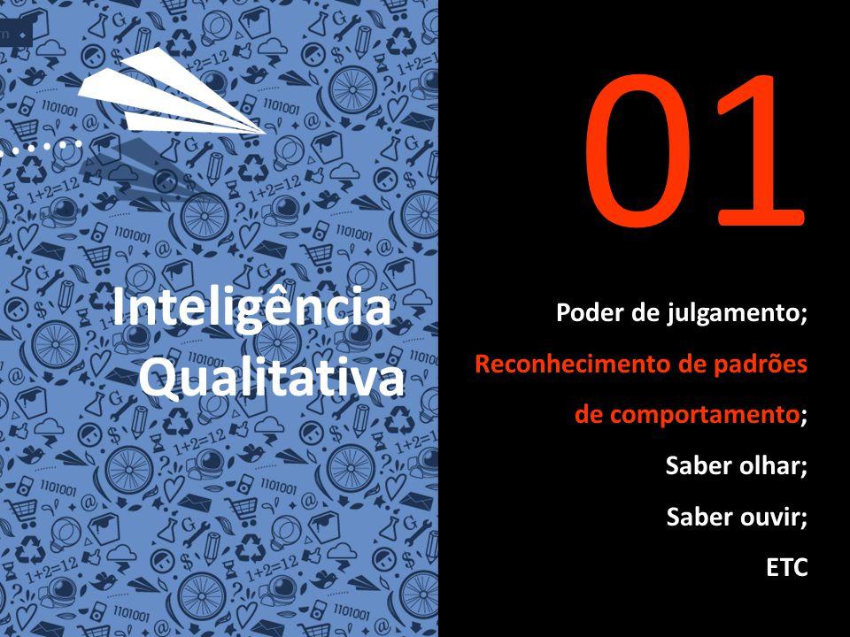 Poder de julgamento; Reconhecimento de padrões de comportamento; Saber olhar; Saber ouvir; ETC 01 Inteligência Qualitativa