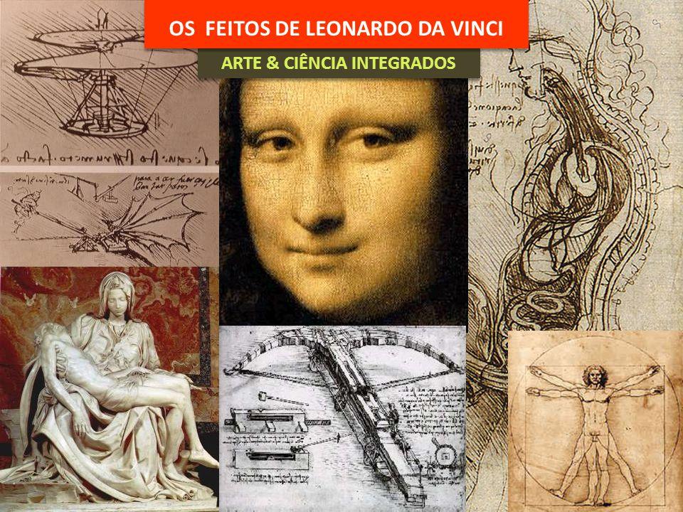 ARTE & CIÊNCIA INTEGRADOS OS FEITOS DE LEONARDO DA VINCI