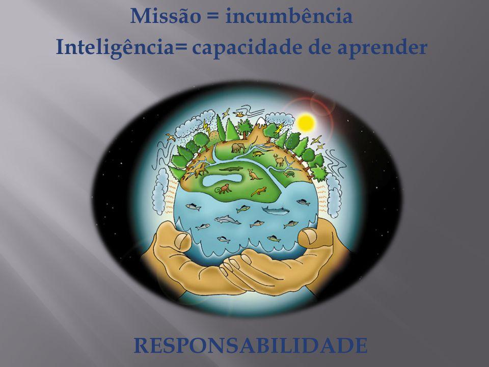 Missão = incumbência Inteligência= capacidade de aprender RESPONSABILIDADE