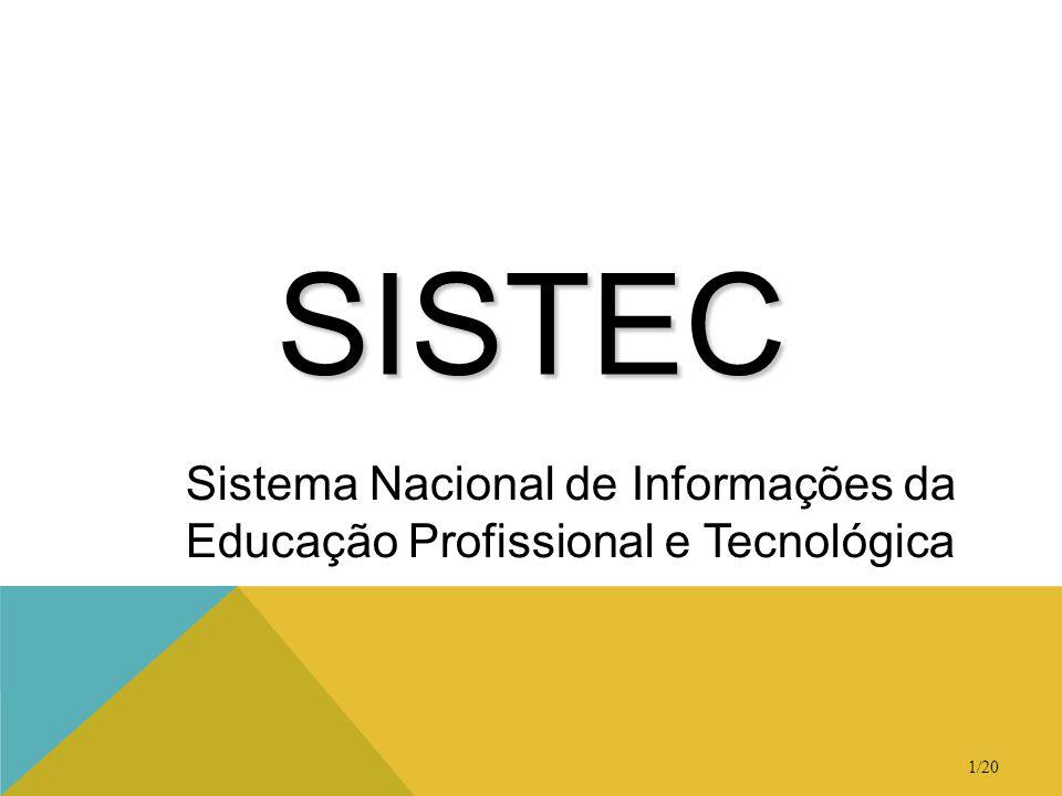 1/20 SISTEC Sistema Nacional de Informações da Educação Profissional e Tecnológica