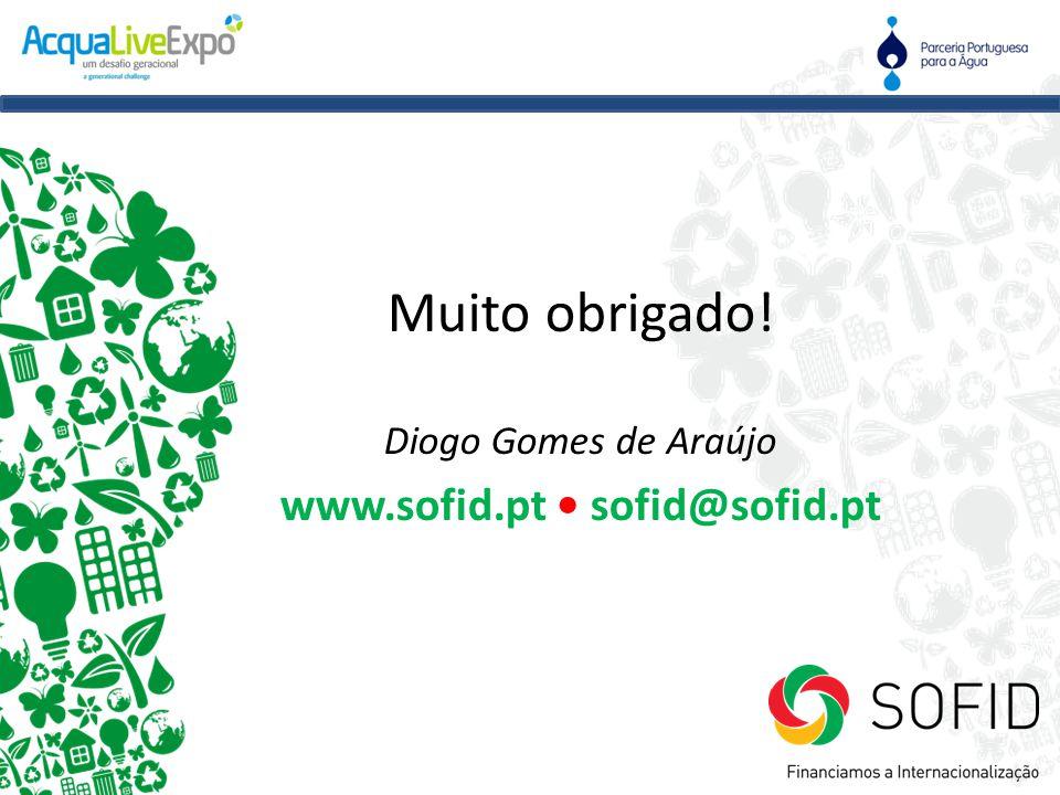 Muito obrigado! Diogo Gomes de Araújo www.sofid.pt • sofid@sofid.pt