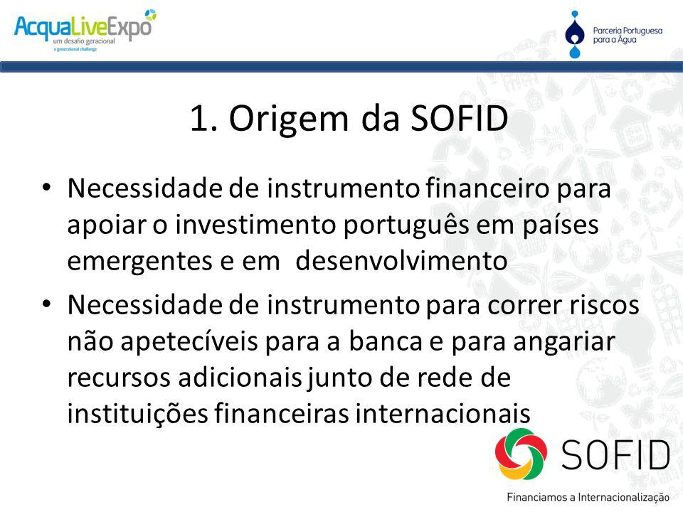 • Necessidade de instrumento financeiro para apoiar o investimento português em países emergentes e em desenvolvimento • Necessidade de instrumento pa