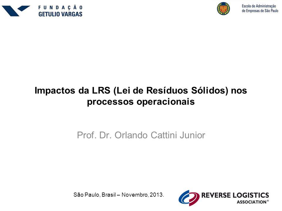 Impactos da LRS (Lei de Resíduos Sólidos) nos processos operacionais Prof.