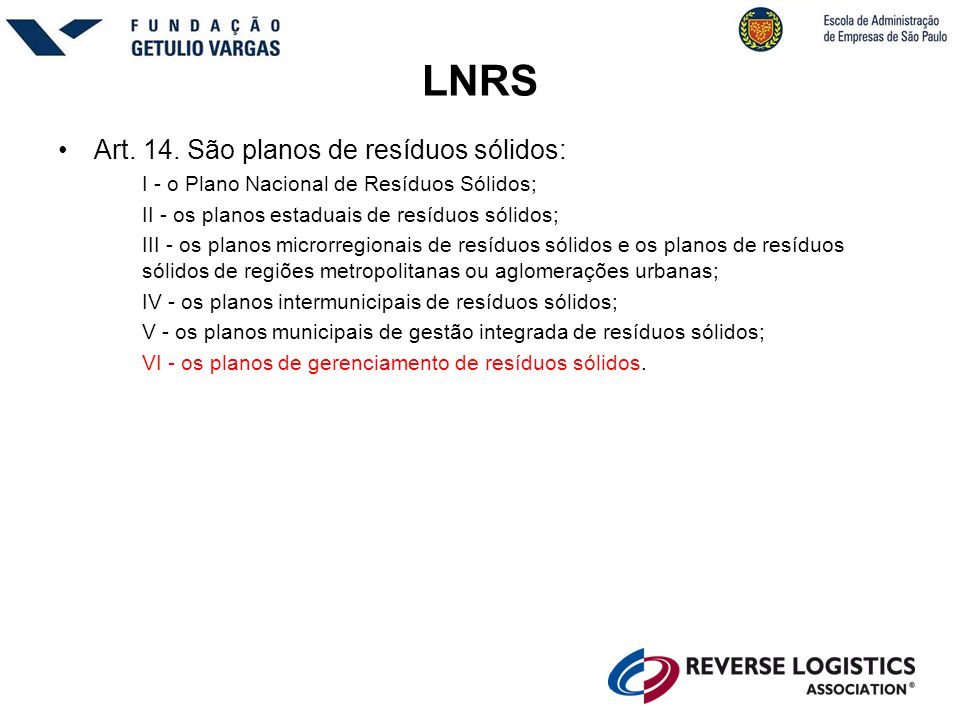 LNRS •Art.14.