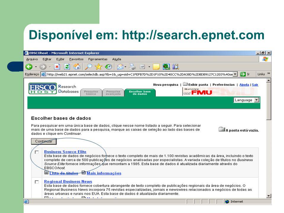 Disponível em: http://search.epnet.com