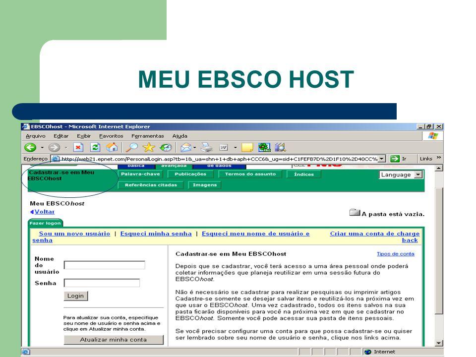 MEU EBSCO HOST