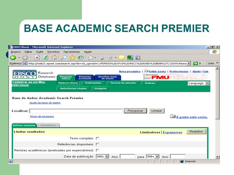 BASE ACADEMIC SEARCH PREMIER