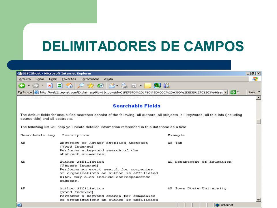 DELIMITADORES DE CAMPOS
