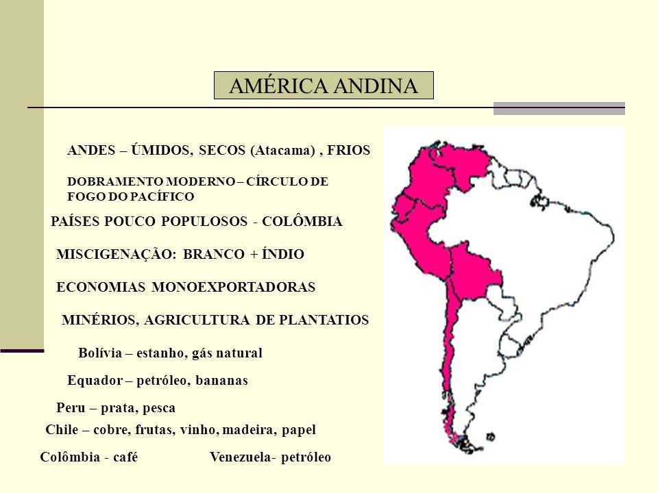 AMÉRICA CENTRAL INSULAR CLIMA TROPICAL ÚMIDO POPULAÇÃO MESTIÇA: BRANCOS + NEGROS DIVERSOS COLONIZADORES DIFERENTES GRANDES E PEQUENAS ANTILHAS BAIXO P