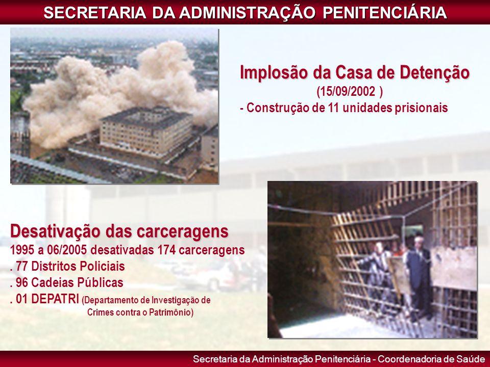 Secretaria da Administração Penitenciária - Coordenadoria de Saúde SECRETARIA DA ADMINISTRAÇÃO PENITENCIÁRIA Implosão da Casa de Detenção (15/09/2002