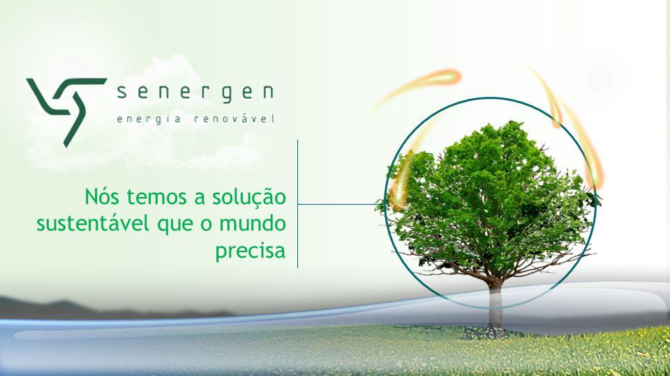 Nós temos a solução sustentável que o mundo precisa