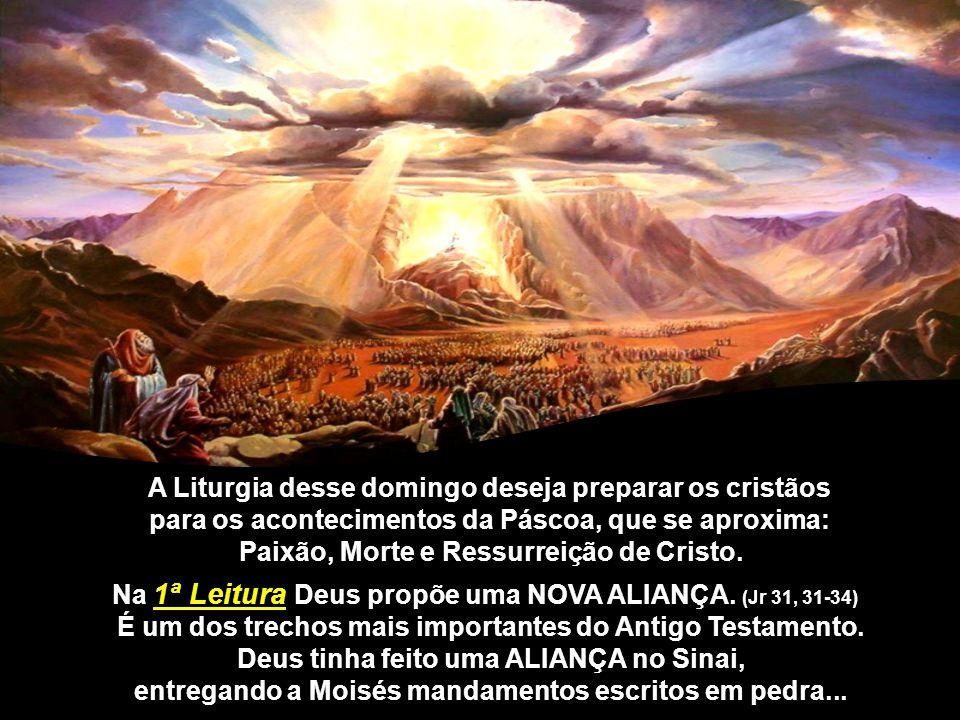 A Liturgia desse domingo deseja preparar os cristãos para os acontecimentos da Páscoa, que se aproxima: Paixão, Morte e Ressurreição de Cristo.