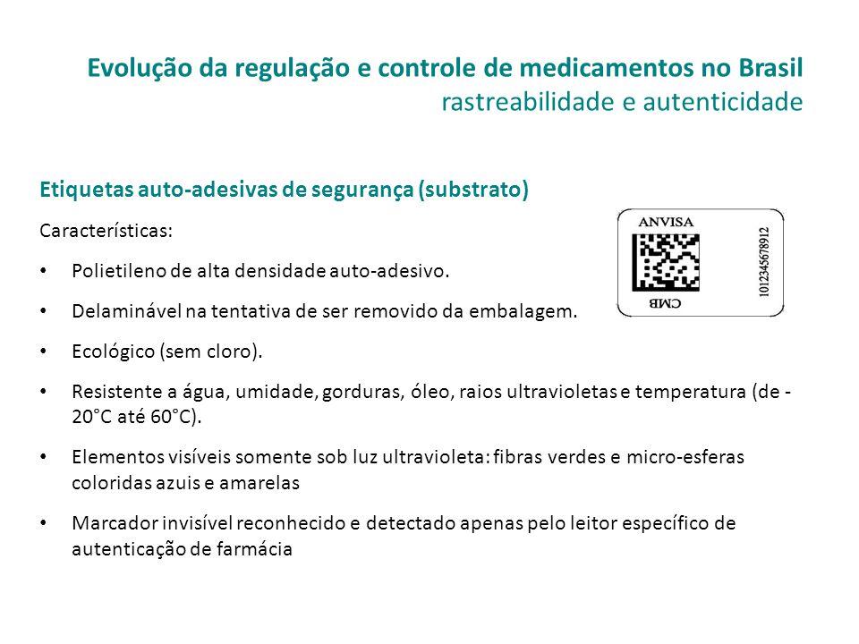 Etiquetas auto-adesivas de segurança (substrato) Características: • Polietileno de alta densidade auto-adesivo. • Delaminável na tentativa de ser remo