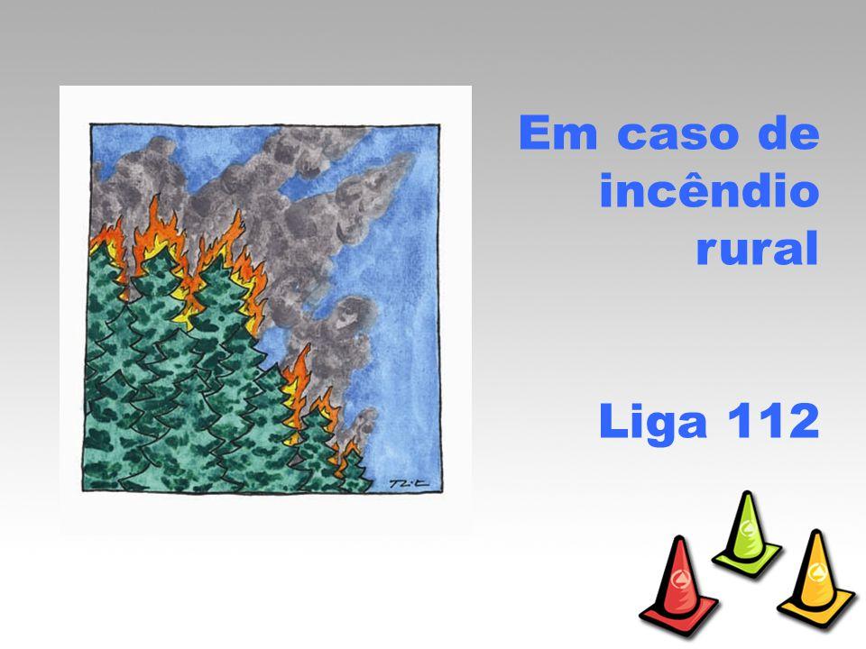 Em caso de incêndio rural Liga 112
